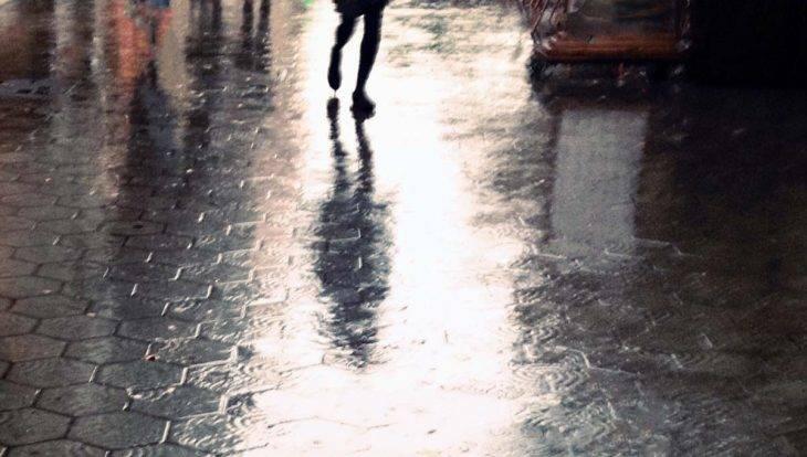 rainy day in Barcelona