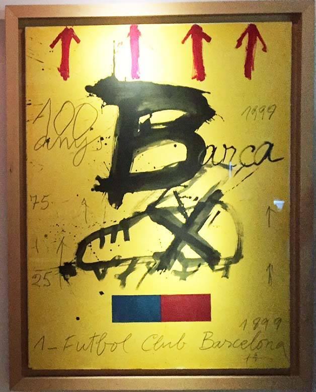 Antoni Tapies Barça poster