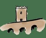 drawing montjuic castle