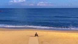November desert beach