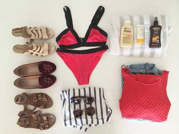 pack suitcase Barcelona