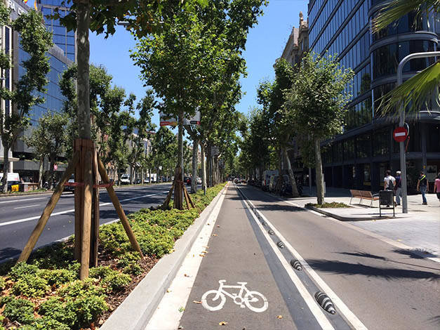 cycle lanes Diagonal