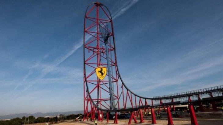 Ferrari Land rollercoaster