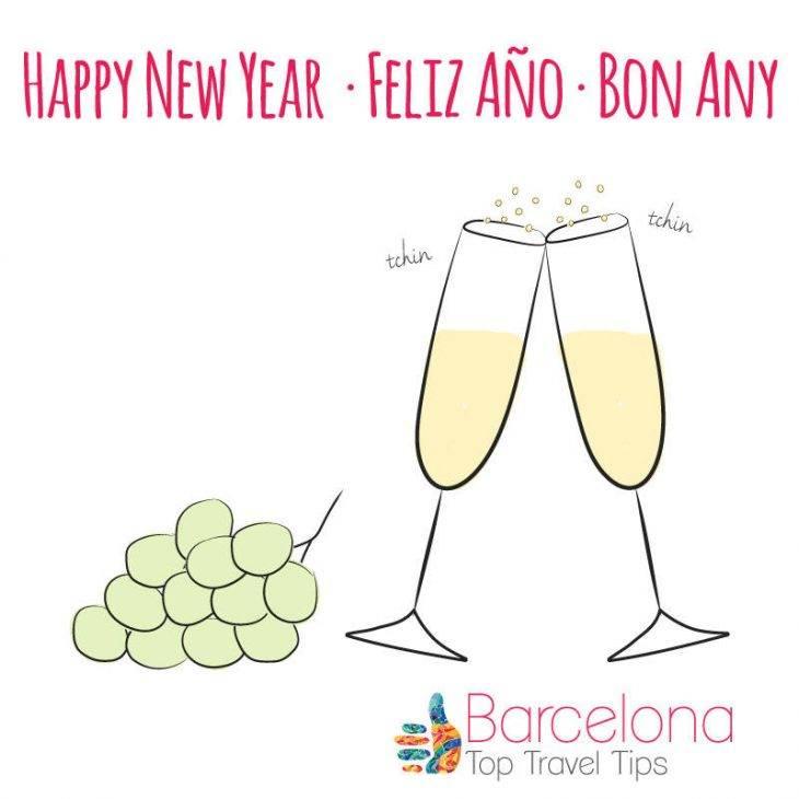 New Year Barcelona cheers