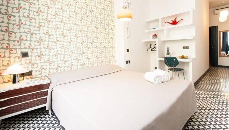 retrome bright bedroom