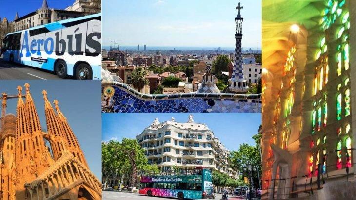 City Pass: Sagrada Familia, Park Güell, Aerobus, Hop on Hop off