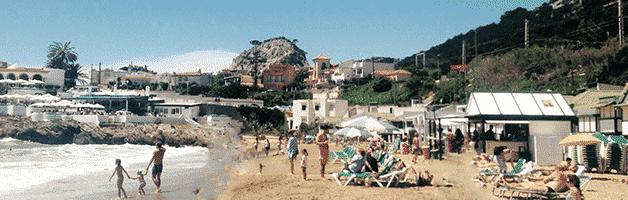 beaches near Barcelona: Garraf