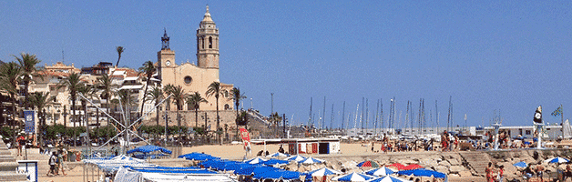 beaches around Barcelona: Sitges