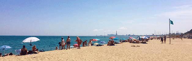 beaches around Barcelona Montgat
