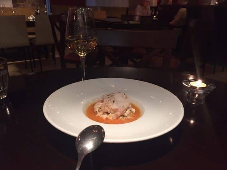 La dentellière: prawn and sea bream ceviche