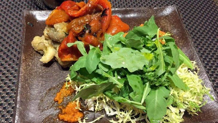 escalivada salad (peppers, aubergine, rocket)