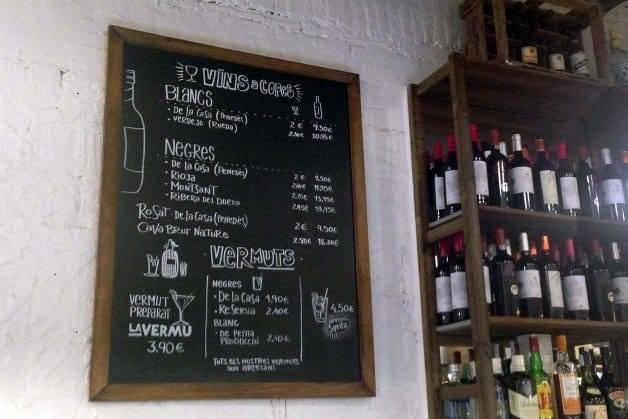La Vermu bar and menu