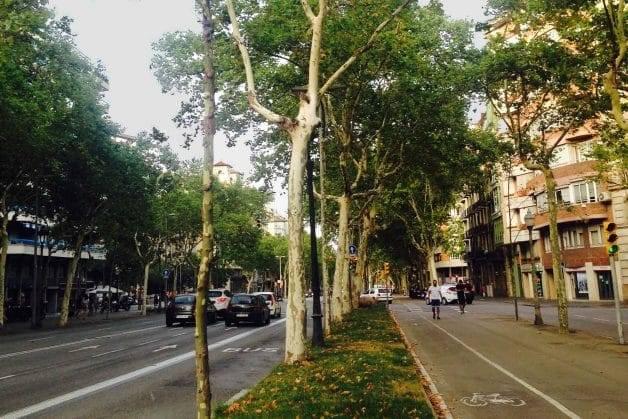 Diagonal running in Barcelona