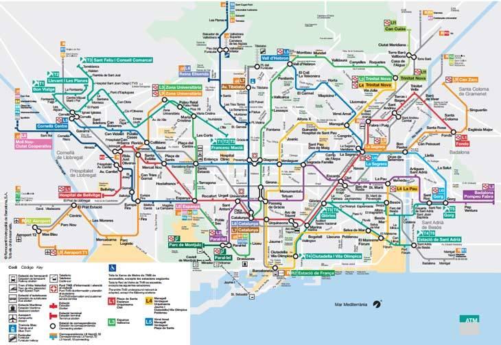 Barcelona's Metro map