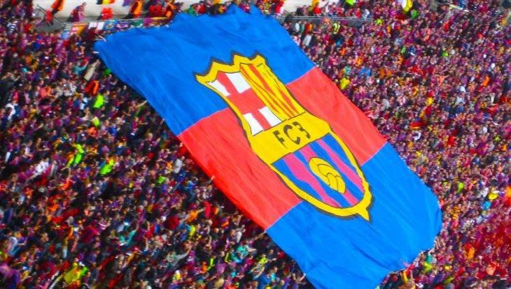 Barcelona FC calendar Camp Nou flag
