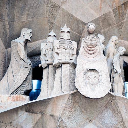 Sagrada familia Subirach sculpture passion façade