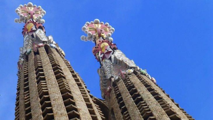 towers and pinnacles sagrada familia