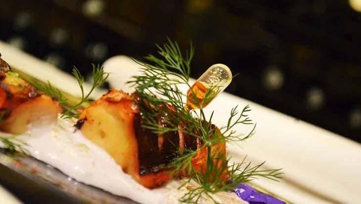 romantic restaurant: arcano: octopus