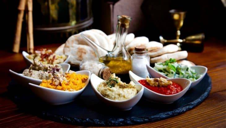 Ziryab romantic restaurant dips