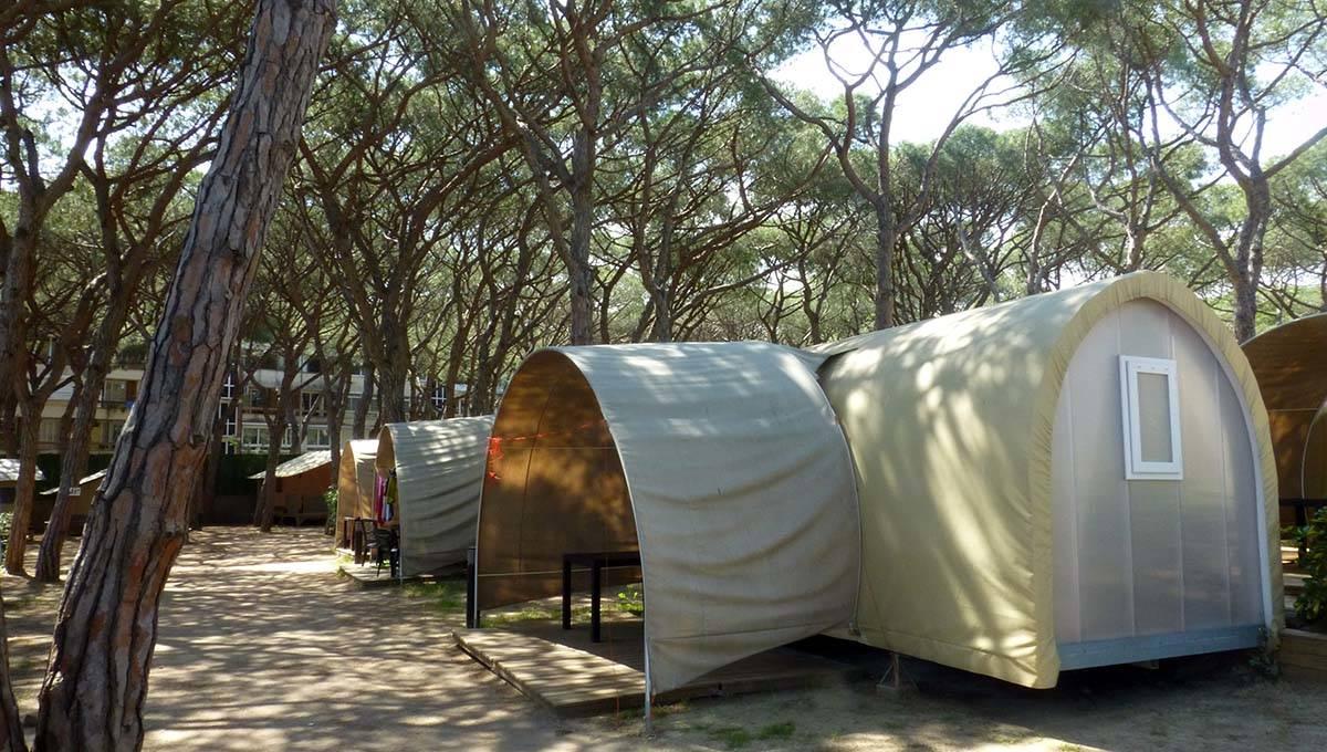 Barcelona Gava campsite: tents