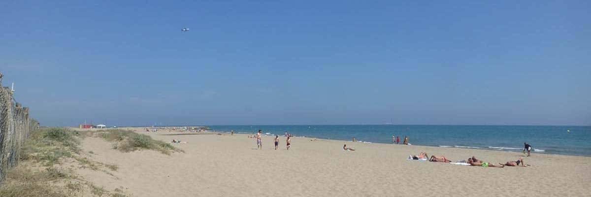 camping Barcelona Castelldefels beach