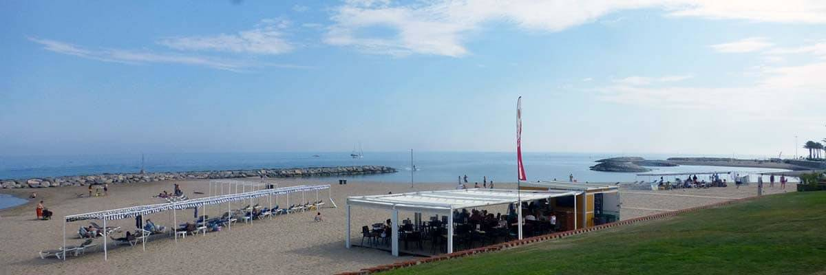 Camping in Barcelona Sitges beach