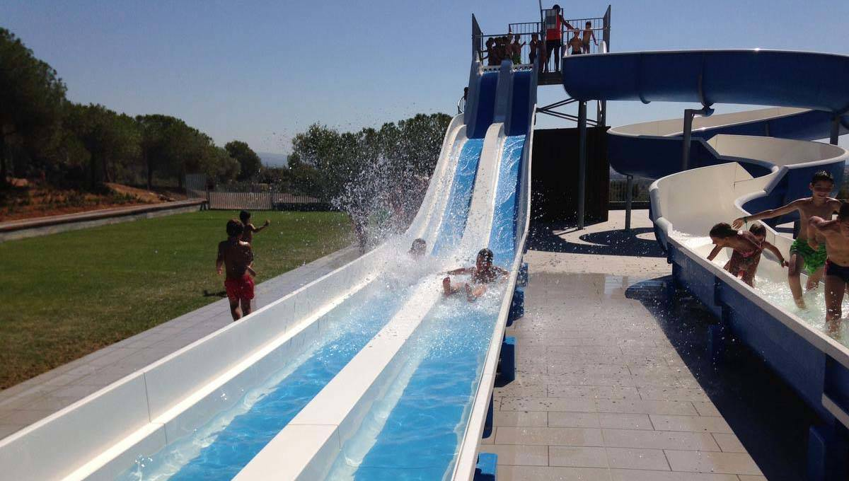 Camping near Barcelona water slide