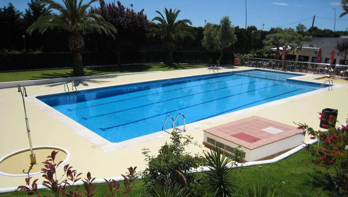 Sitges campsite pool near Barcelona