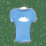 blue T shirt drawing