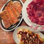 tapas at Bodega la Puntual: ham and patatas brava