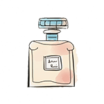 perfume bottle drawing