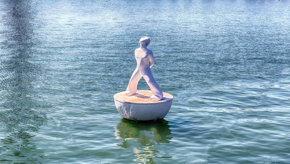 floating sculpture near Maremagnum