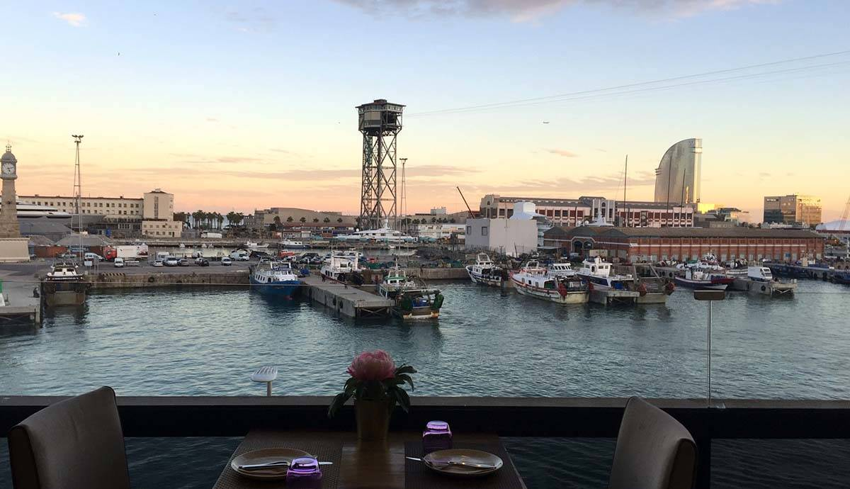 view from the marítimo bar at maremagnum