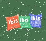 dessin des 3 logos ibis